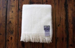 Foxford cream plain blanket