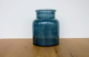 Glass Jar in Blue