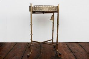 Distressed Gold Tray Table