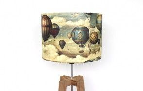 Vintage balloon lamp shade
