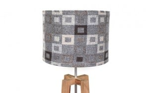 Madison grey lamp shade