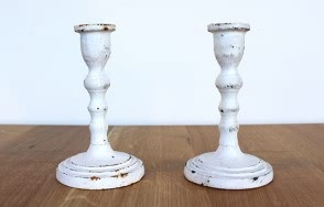 Nero white Iron candlestick 145mm