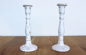 Nero white Iron candlestick 190mm