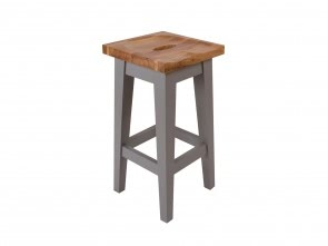 Grey Solid Oak Stool