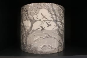 Trees Lampshade in Smoke Grey