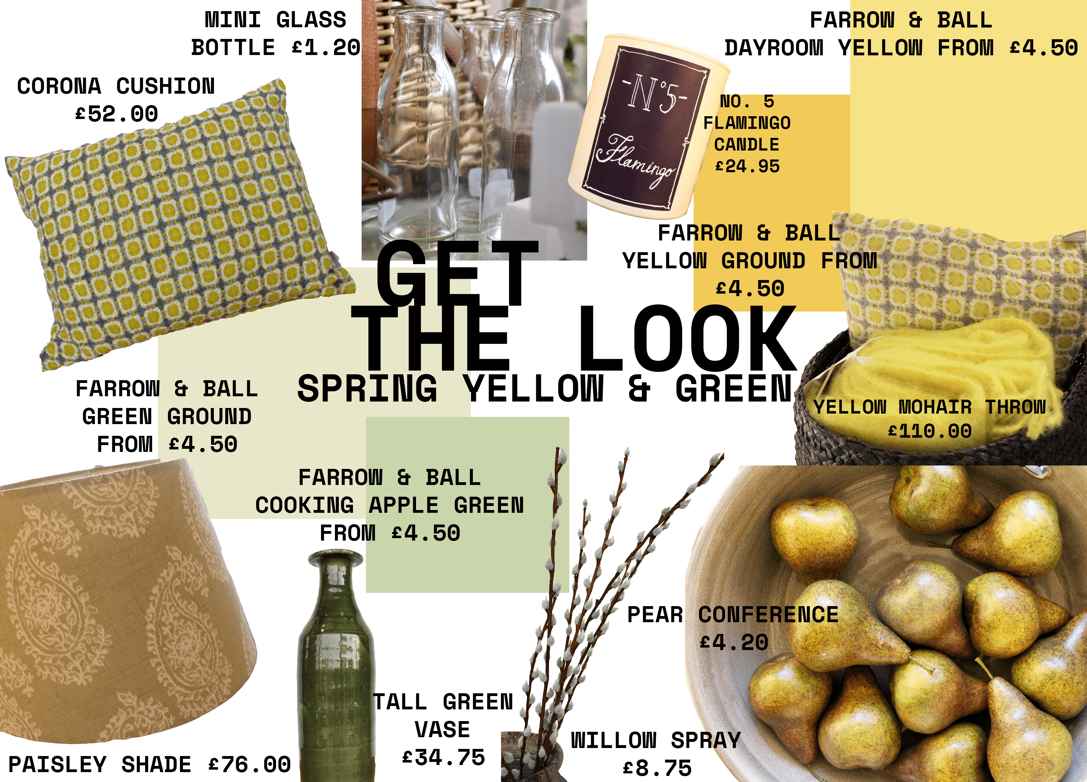Get the Look: Spring Yellow & Green Home Inspiration