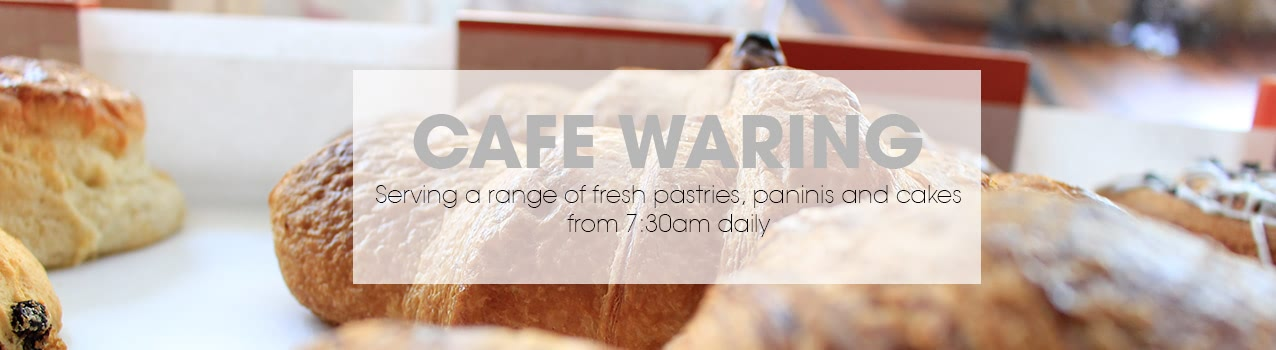 Visit cafe WARING this week for a delicious range of panini, cake and hot drinks