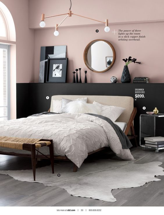pink and grey, farrow&ball