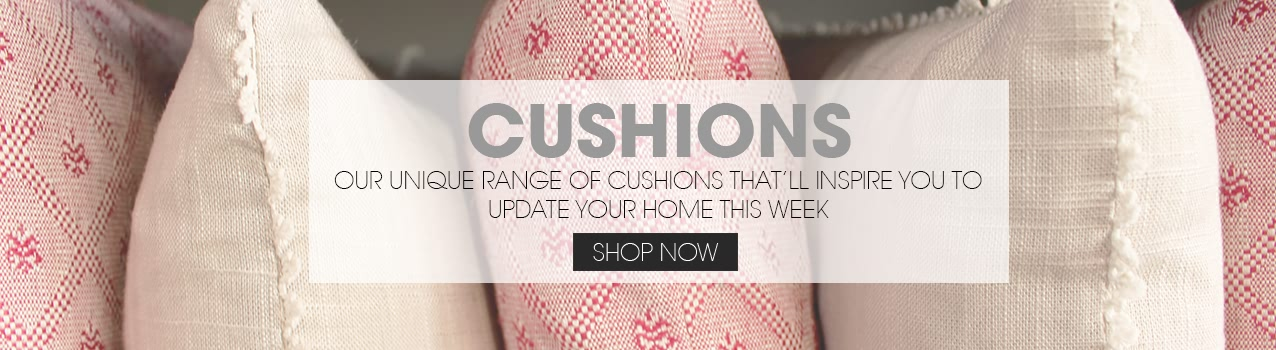 Our unique range of cushions that'll inspire you to update your home this week.