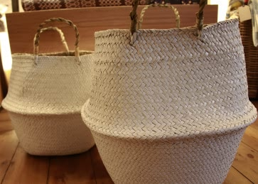 White Grass Basket