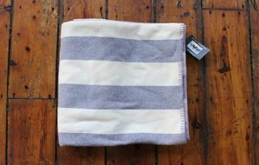 Broad stripe crocus throw