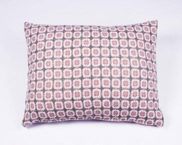 Corona Cushion in Grey/Rose