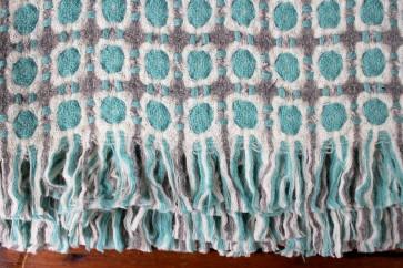 Corona Blanket in Grey/Turquoise