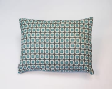 Corona Cushion in Grey/Turquoise