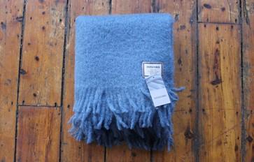 Foxford dark blue mohair blanket