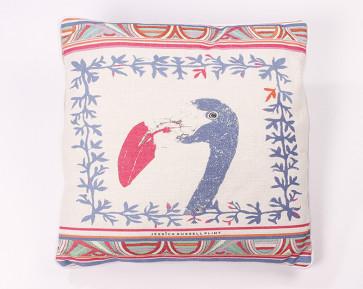 Jessica Russell Flint flamingo aztec cushion