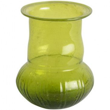 Forest Colour Recycled Glass Vase