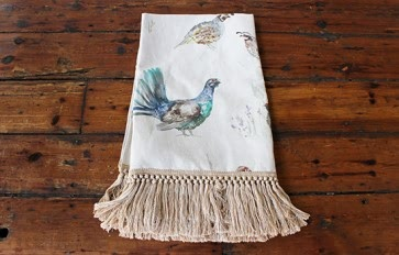Game Bird Fringed Throw