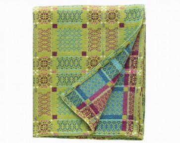Knot Garden Blanket Green
