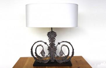Magenta lamp and shade