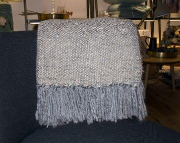 Metallic Knitted Throw in Grey