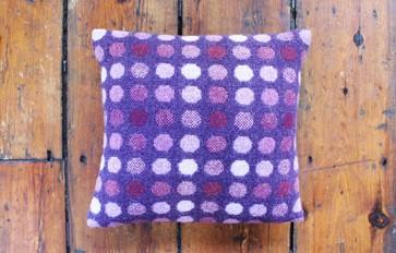 Melin Tregwynt mondo berry cushion
