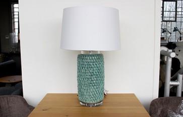 Pale Blue Lamp/Shade Set