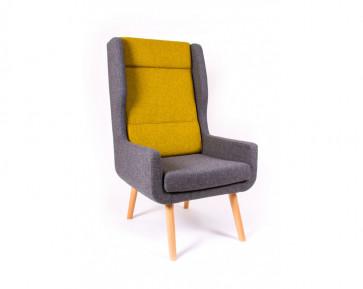 Pye high back armchair