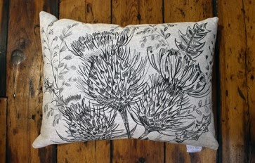 Rannoch thistle cushion