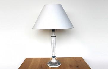 Grey wooden rococo lamp