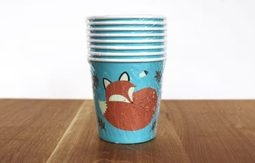 Rusty the Fox paper cups