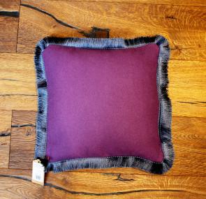 Purple cushion with Fringe