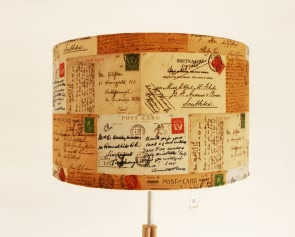 Vintage Postcard Lampshade