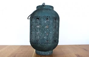 Antique petrol cylinder lantern