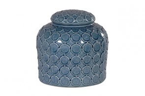 Blue lidded ginger jar