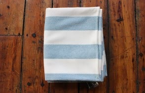 Broad stripe topaz throw