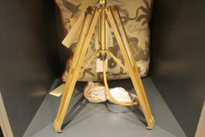Tripod Lamp in Antique Brass