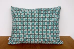 Corona Cushion in Grey/Turquoise