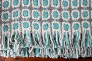 Corona Blanket in Grey/Turquoise