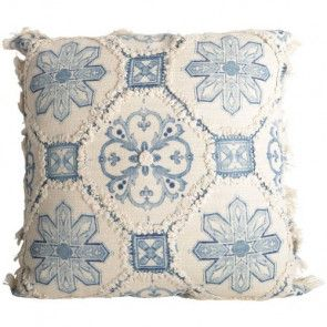 Delft Design Fringed Cushion