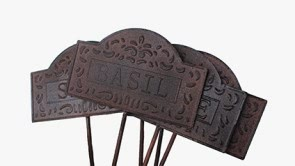 Embossed tin herb markers set of 6