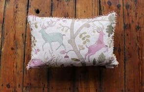 Fergus mulberry cushion
