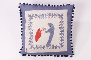Jessica Russell Flint flamingo bobble cushion