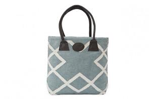 Geometric Woven Bag in Green