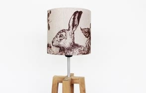 Hare and Berry lamp shade
