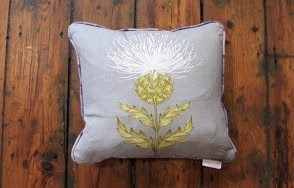 Harris tartan flint cushion