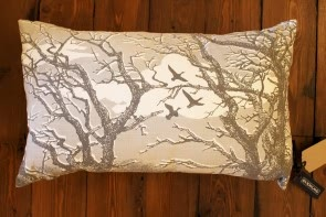 Trees Cushion in Smoke Grey