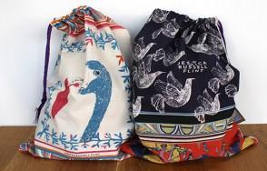 Jessica Russell Flint drawstring tasselled bag
