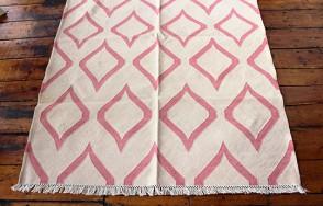 Lantern Rug in Cream/Pink