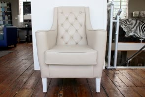 Leather Comfort Chair in Cream